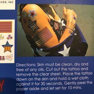 Flash tattoos. Metallic. Two packs shown.